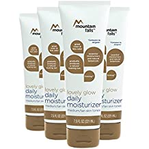 Mountain Falls Lovely Glow Daily Moisturizer Lotion for Medium to Tan Skin Tone, Compare to Jergens, 7.5 Fluid Ounce (Pack of 4)