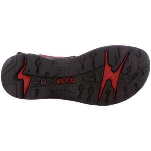 Ecco Donna Yucatan Sandal Chili Rosso / Cemento / Nero