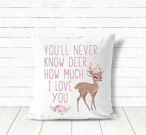 3Funk Nursery Pillow Girls Boho Nursery Decor Deer Nursery Decor Girls Baby Girls Deer Decor Deer Pillow Fawn Nursery Decor Woodland Animal Decor