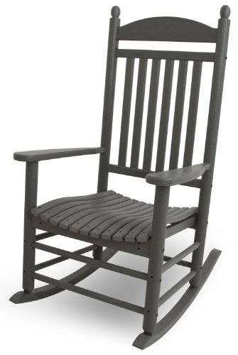 POLYWOOD J147GY Jefferson Rocking Chair Rocker, Slate Grey