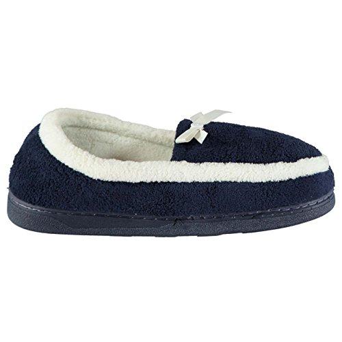 Azul 7 41 Ligero Mujer Calzado Zapatos Collection Pantuflas Mystify Textile Marino Botones H786B