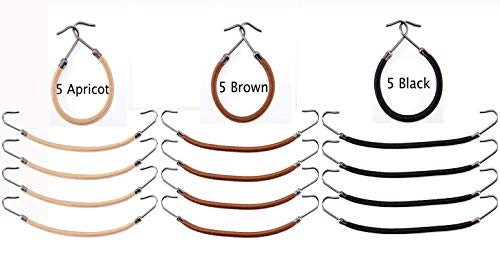 Women 15 Pack Ponytail Hooks Bungee Small Rubber Bands Hair Ties Accessories Elastic Holder Blonde Beige Styling Headbands Tools Claw Thick Hair Clips for Girl (5 Black + 5 Brown + 5 Apricot) ()