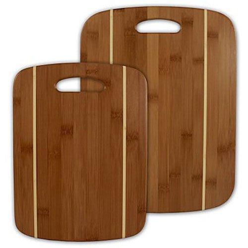 Bamboo Boards Striped - 2 Piece Striped Bamboo Cutting Board Set