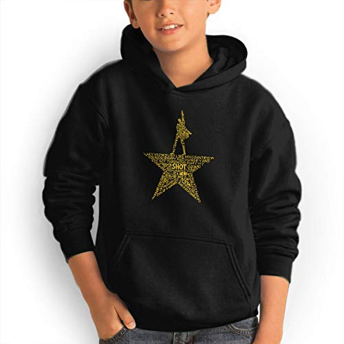 Youth Hoodie Hamilton The Musical 100% Cotton Casual Long Sleeve Sweatshirt Pullover with Pockets for Boys and Girls