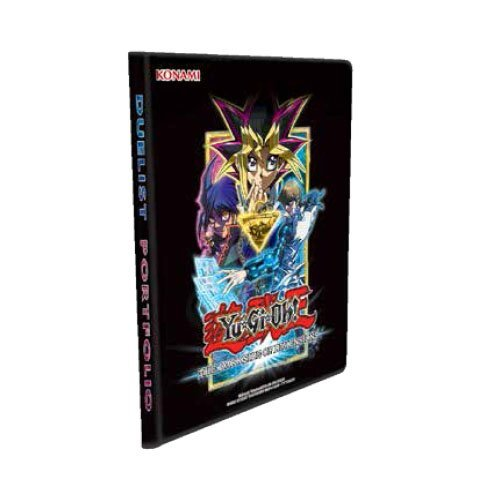 Deluxe Yu-Gi-Oh! TCG Dark Side Dimension Duelist Portfolio Yugioh Movie Album 180 Card Binder w/Double-Sided Side-Load 9-Pocket Pages Featuring YuGi & - Side 180 Front