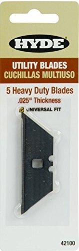 Hyde Tools 42100 Hyde 5-Piece Heavy Duty Utility Knife Blade