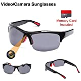 Sunglasses Camera 1080P Spy Video Glasses Anti Glare & UV Protection Eyewear for Sports,Riding,Fishing,Motorcycle (Black)