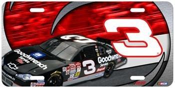 (Dale Earnhardt NASCAR Metal License Plate )