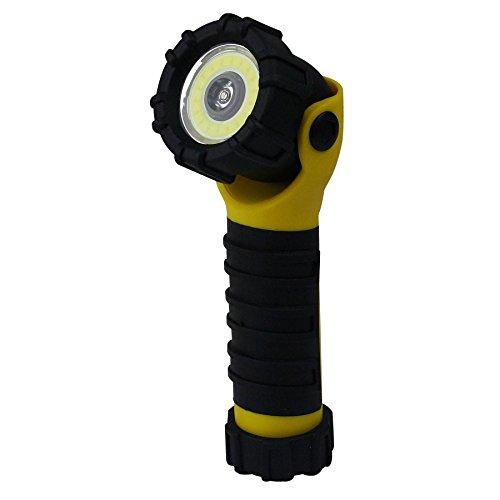 Dorcy 203-Lumen LED/COB Magnetic 90-Degree Swivel Flashlight with (3) Light Beam Options, Yellow (41-2386) - Light Swivel Floodlight