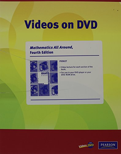 Videos on DVD with Optional Subtitles for Mathematics All Around