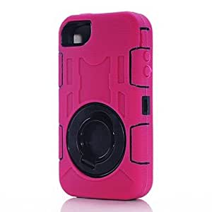 Rugged Shockproof Defender Case Cover with Rotating Kickstand for iPhone 4/4S , Navy