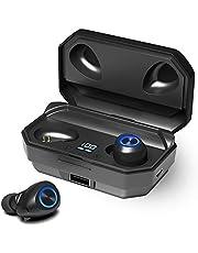 "144 Horas de Reproducción con Nuestros Auriculares Inalámbricos, con Bluetooth 5.0 Auriculares Estéreo e Inalámbricos ""in-Ear"" con Estuche de Carga Rápida (Micrófono Incorporado, 3D Estéreo)"