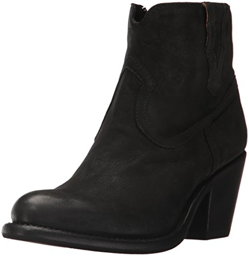 FRYE US Nubuck 7 Women's Lillian Western M Black Boot Bootie aarxz