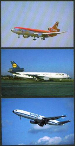 vasp-lufthansa-cp-air-douglas-dc-10-postcard-group