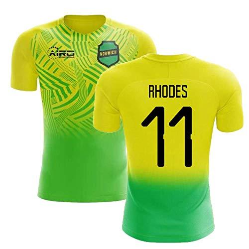 Airosportswear 2019-2020 Norwich Home Concept Football Soccer T-Shirt Jersey (Jordan Rhodes 11) - Kids