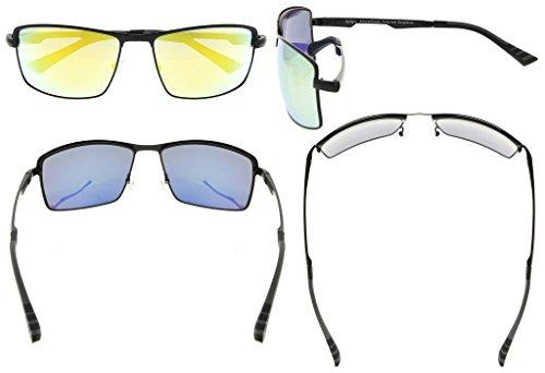 soleil pour Lunettes Eyekepper Polycarbonate verres soleil Metal en de hommes Gris Dore lunettes verres monture Polarisees Verre 7wqxPwdC
