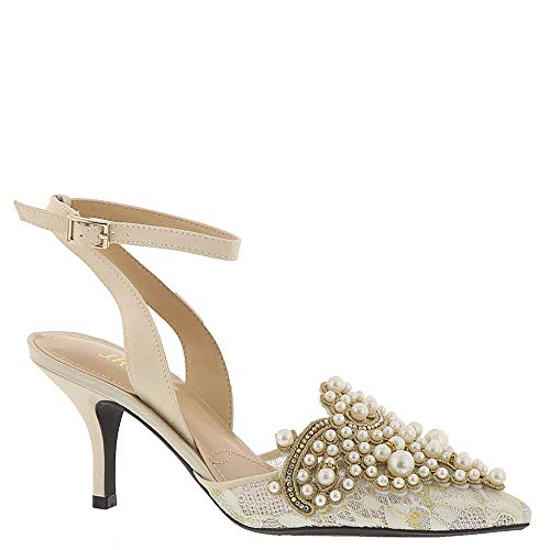 J. Renee Womens Desdemona Ivory/White Pearls 9 M (B) for sale  Delivered anywhere in USA