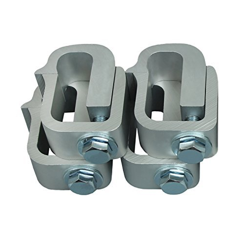 (AA-Racks P-AC-03 Clamp for Truck Cap, Camper Shell, Topper, Truck Lid, Tonneau Cover for a Short Bed Pickup Truck (Set of 4),Silver)