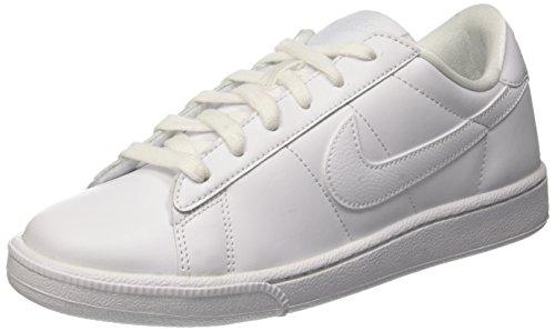 nike womens tennis classic trainers 312498 sneakers shoes (US 8.5, white blue 129) (Womens White Tennis Shoes Nike)