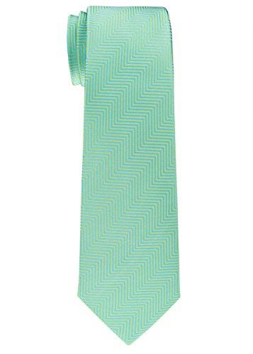 Retreez Herringbone Stripe Woven Microfiber Boy's Tie (8-10 years) - Mint Green
