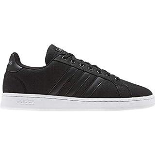 adidas Men's Grand Court Sneaker, Core Black/Core Black/Grey, 10