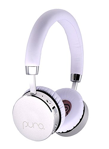 Puro Sound Labs, The Premium Kids Headphone, Kids Volume Limiting Bluetooth Wireless Headphones (White,Silver)