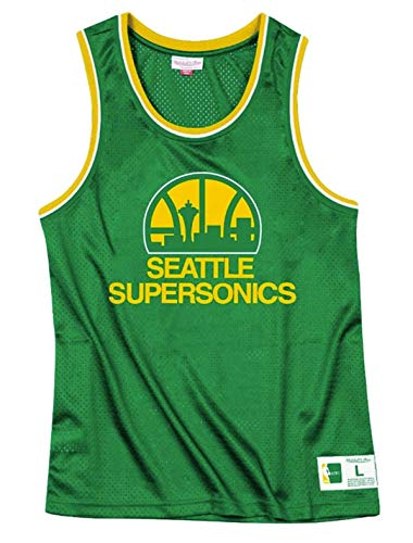 Seattle Supersonics Men's Green Mesh Tank Top (2X-Large)