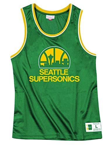 Seattle Supersonics Men's Green Mesh Tank Top (2X-Large) (Super Mesh Green)