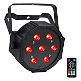 par can led lights - LED Par Lights, 7LEDs x 10W RGBW Par Can by Remote DMX Control Sound Activated for Party Wedding Stage Lights
