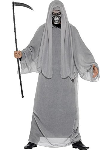 Smiffys Men's Grim Reaper Costume, Gown and Half Face Mask, Legends of Evil, Halloween, Size ML, 44353