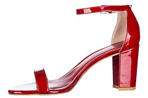 Stuart Weitzman sandales femme à talon en cuir rouge