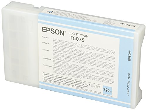 Epson UltraChrome K3 Ink Cartridge - 220ml Light Cyan (T603500) (Ml Cyan Ink 220)