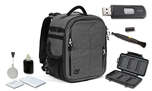 Tamrac G-Elite 26 Backpack (Charcoal) + High Speed 128GB USB Stick + (Tamrac Wallet)