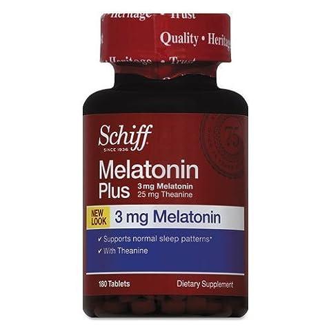 Schiff Melatonin Plus Tablet, 180 Count by Schiff - Schiff Melatonin Plus