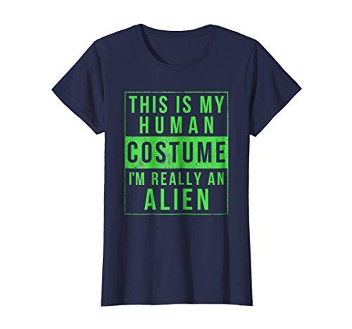 Womens Alien Halloween Costume Shirt Funny Medium