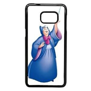 Samsung Galaxy Note 5 Edge Phone Case Black Cinderella Fairy Godmother KJI8497348