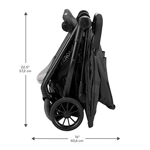 41myrvqQ0BL - Evenflo Aero2 Ultra-Lightweight Double Strollers, Compact, Self-Standing Folding Design, Shopping Basket Single-Child Mode, Seatback Storage Pocket, 2 Mesh In-Seat Pockets, 50-lb Per Seat, Osprey Gray