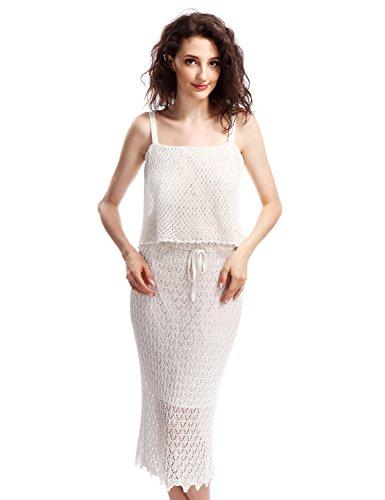 Crochet Sleeveless Skirt - 2
