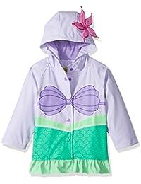 Western Chief Kids Disney Character lined Rain Jacket, Ariel Disney Princess, 4T