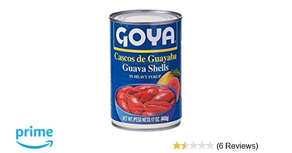 Amazon.com : Goya Cascos de Guayaba | Guava Shells 17 Oz : Canned And Jarred Fruits : Grocery & Gourmet Food