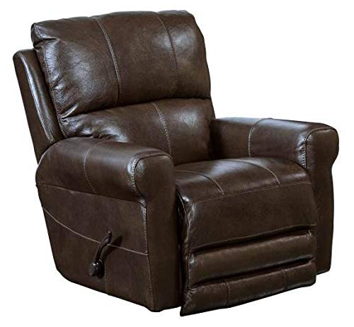 Catnapper Hoffner Leather Touch Power Lay Flat Recliner in Chocolate by Catnapper