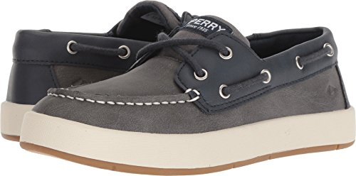 Sperry Top-Sider Cruise Boat Shoe Big Kid 2 Navy/Grey ()