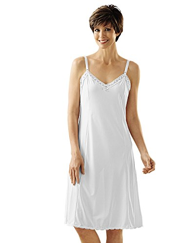 Shadowline Adjustable Strap Full Slip, White, 40