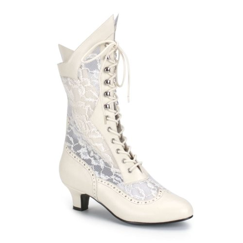 Victorian Lace Insert High Wedding Boots Lace Goth Granny Boots 115