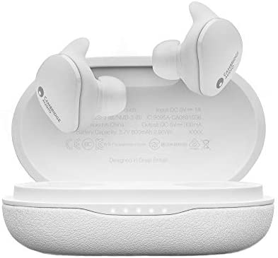 Cambridge Audio Melomania Touch Earbuds, True Wireless Bluetooth 5.0, Hi-Fi Sound, in-Ear Stereo Ear Buds for iPhone and for Android (White)