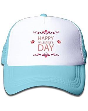 Happy Valentine's Day Colortone Baby Boys Baseball Cap Infant Trucker Hat