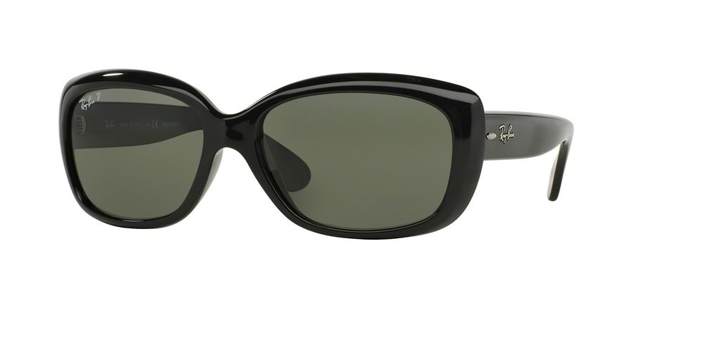 Ray-Ban RB4101 JACKIE OHH 601/58 58M Black/Green Polarized Sunglasses For Women by Ray-Ban
