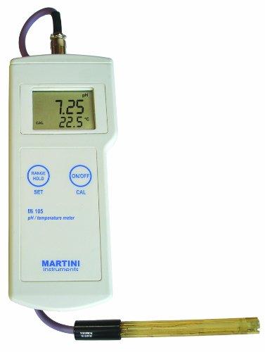 Milwaukee Mi105 Portable pH/Temperature Meter, -2.00 - 16.00 pH, +/- 0.02 pH Accuracy, 0.01 pH Resolution