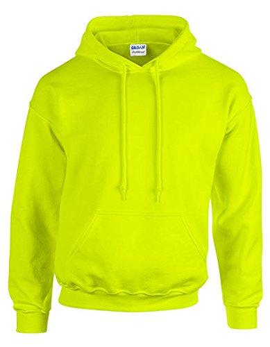 Gildan Men's Heavy Blend Hooded Sweatshirt, Safety Green - 2XL
