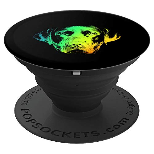(Chocolate Lab Colorful Vintage Retro - PopSockets Grip and Stand for Phones and Tablets)